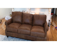 Stone & Beam Charles Classic Oversized Leather Accent Arm Chair