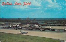 Love Field Airport Dallas Texas TX passenger planes jets pm 1967 Postcard