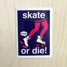 Enjoi skateboard vinyl sticker decal bumper skate or die rollerskate retro skate
