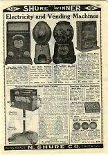 1927 ADVERTISEMENT Vending Machine Matches Gun Target Practice Gum Ball Gumball