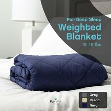 Pur-Well Living Relaxing New Sustainable Pur Plush Weighted Blanket 15 lb 20 lb