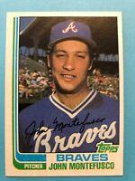 1982 Topps Baseball Card #697 John Montefusco Atlanta Braves