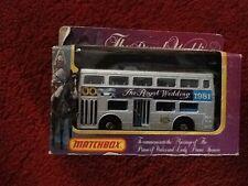 Matchbox The Royal Wedding Silver London Bus Charles & Diana 1981 -