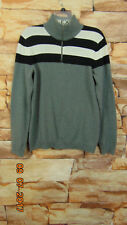 ARMANI EXCHANGE Sweater Size M  1/2 Zip Gray Pullover Mens