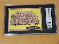 1962 Topps #465 Cincinnati Reds SGC 3.5 Newly Graded