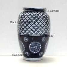 Vase Ceramic Blue and White, 30cm, Rising Sun Vase