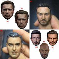 1/6 Handsome Man Popular Head Sculpt Carving Model For 12'' Male Action Figure
