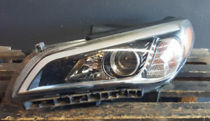 2015-2017 HYUNDAI SONATA HEADLIGHT LEFT DRIVER SIDE HALOGEN LAMP OEM NICE