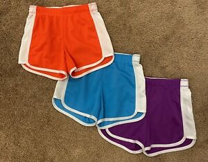 Justice Active Girls LOT OF 3 Athletic Shorts ALL SIZE 7 Purple, Blue, Pink