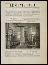1909, Cyabamide à l'usine de Martigny (Suisse) : Vue de l'appareil Linde