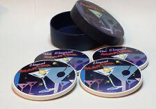 Ceramic Coasters Set of 4 new in box The Elegant Martin (4 inch in dia)