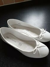 Marks and Spencer White Flats for Women