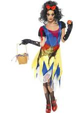 SNOW FRIGHT COSTUME, HALLOWEEN  FANCY DRESS, SMALL 8-10, SNOW WHITE, HORROR