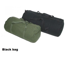 Gear bag Medium black Heavy duty overnight travel cotton canvas 60L duffle BP7