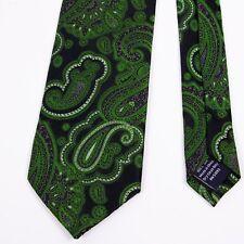 Stafford Performance Mens Green Paisley Neck Tie Silk
