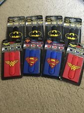 Dc Comics Lot Mobile Wallet 3-in-1 Cell Phone Stand Cord Wrapper 3M Adhesive