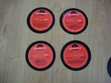 VINYL COASTERS FROM 4 ORIGINAL POLYDOR LP RECORDS (FREE POST!!)