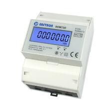 LCD Drehstromzähler Stromzähler MID geeicht mit S0 für Hutschiene 10(100)A 400V