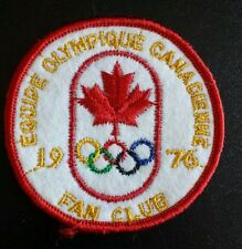 Patch , Montreal 1976 , Olympic Games . équipe Olympique Canadienne Fan Club