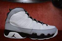 Nike Air Jordan 9 Retro IX BG (Barons) White Black Wolf Grey Size 7Y
