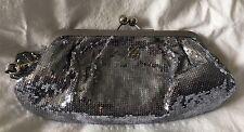 COACH Silver Sequin Clutch Wallet Wristlet Purse-Near Mint-44475
