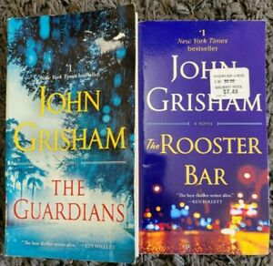 JOHN GRISHAM THE GUARDIANS + THE ROOSTER BAR 2 BOOK LOT PAPERBACK BOOKS THRILLER