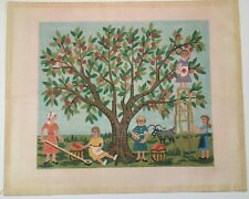 Women Picking Apples, a Vintage (14 count) Needlepoint Canvas