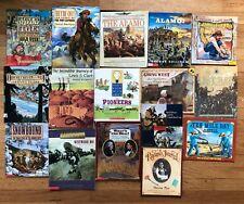 Lot 16 Children's US History Books  WESTWARD EXPANSION Pioneers Lewis Clark