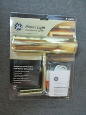 """GE Picture Photo Light Kit Incandescent Light 7"""" Brass Plated"""