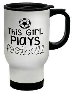 This Girl Plays Football Travel Mug Cup