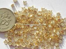 36 x 12ss gold coloured claw settings for round flatback crystals