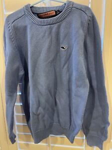 Vineyard Vines Boys sz  S 8-10 Classic crewneck Blue pullover cotton sweater