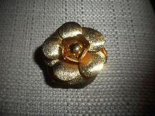 Vintage Goldtone Flower Brooch