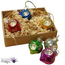 Adornos de color principal plata de vidrio para árbol de Navidad