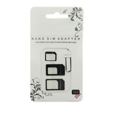 SIM Card Adapter Set, 4-in-1 Nano to Micro Standard Converter