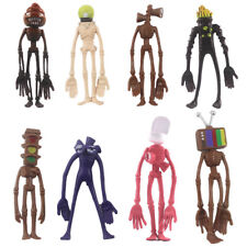 New 8Pcs Siren Head Toys Cartoon Animal Figure Horror Model Doll Set for Kids