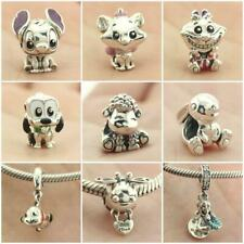 925 Sterling Silver Lilo Stitch Cheshire Aristocats Marie Cat Charm Dangle Bead