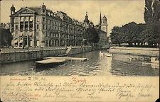 Schweiz Litho-AK ZÜRICH 1902 Bedarfspost + Frankatur + Stempel VITZNAU gelaufen