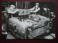POSTCARD EASTLEIGH - ASSEMBLING A CYLINDER BLOCK 1947