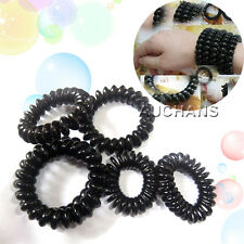 5PCS X Hair Ties Girl Rubber Telephone Wire Style Elastic Plastic Rope