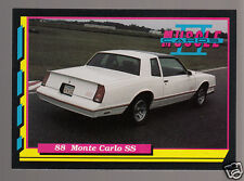 1988 CHEVROLET MONTE CARLO SS 305ci V8 Muscle Car Photo 1992 TRADING CARD