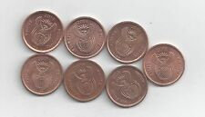 7 DIFFERENT 5 CENT COINS from SOUTH AFRICA (2005/2006/2007/2008/2009/2010/2011)