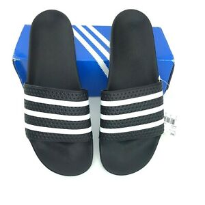 adidas Originals Men's Adilette Slide Sandal stylish comfy Black & White size 15