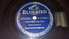 "BENNY GOODMAN Changes/ Russian Lullaby 1941 EX! 10"" 78rpm Bluebird B-11226 CLEAN"