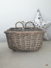 Wicker rattan tray basket storage decor modern country wall display basket