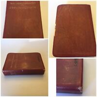 New World Translation of the Holy Scriptures Red Bonded Leather Binding 1984