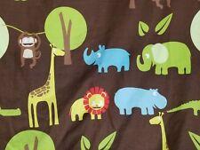Circo Safari Jungle Animals ~  DUVET w/ shams ~   Elephant Giraffe Monkey  FULL