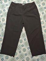 "Womens Slacks Dress Pants 16W Petite EST. 1946 Black Hemmed 28"" Inseam"