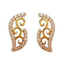 Brilliant Cut 0.42Ct 100% Genuine Diamonds 18Kt Yellow Gold Stud Earrings