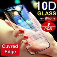 For IPhone X XS MAX XR 3D 10D Full Cover Real Tempered Glass Screen Protector